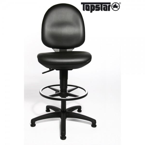 Arbeitsstuhl TEC 50 Counter, Gestell mit 5 Gleitern, schwarz