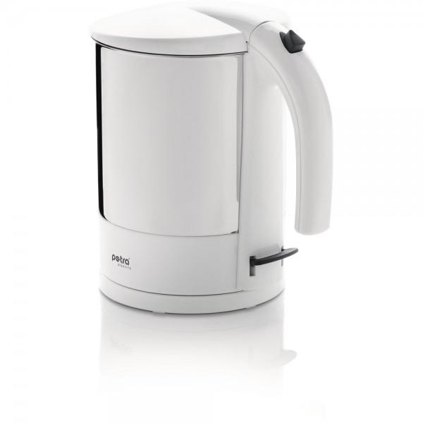 Wasserkocher, WK 288, Edelstahl/Kunststoff, 1,7 l, weiß/edelstahl