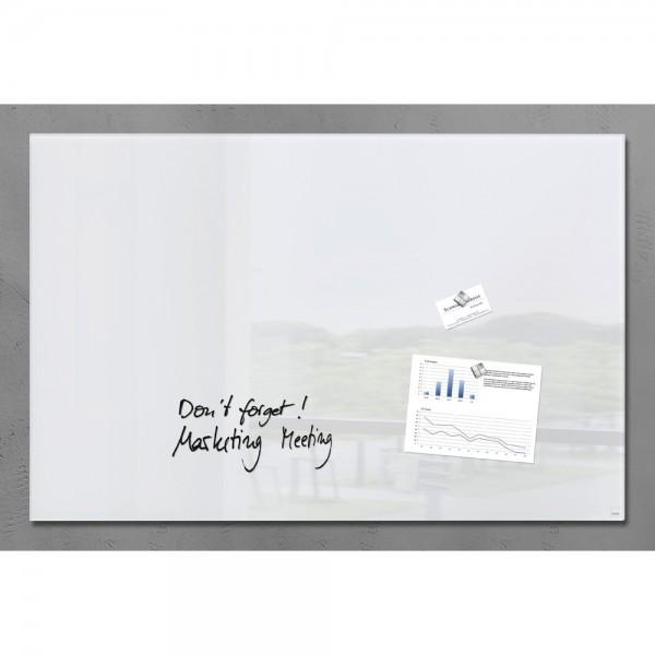 Glas-Magnetboard artverum weiß 100x65x1,5cm