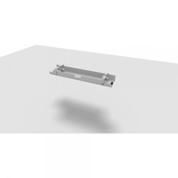Kabelkanal All in One, 120 cm, für 160 cm Tisch, alusilber