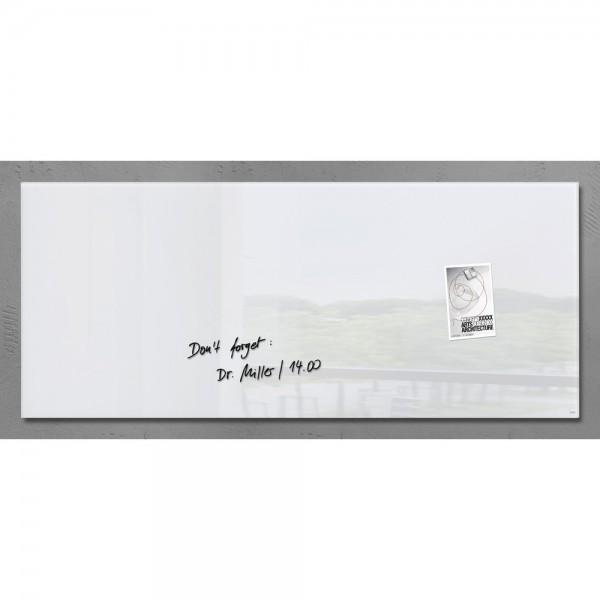 Glas-Magnetboard Artverum weiß 130x55x1,5cm