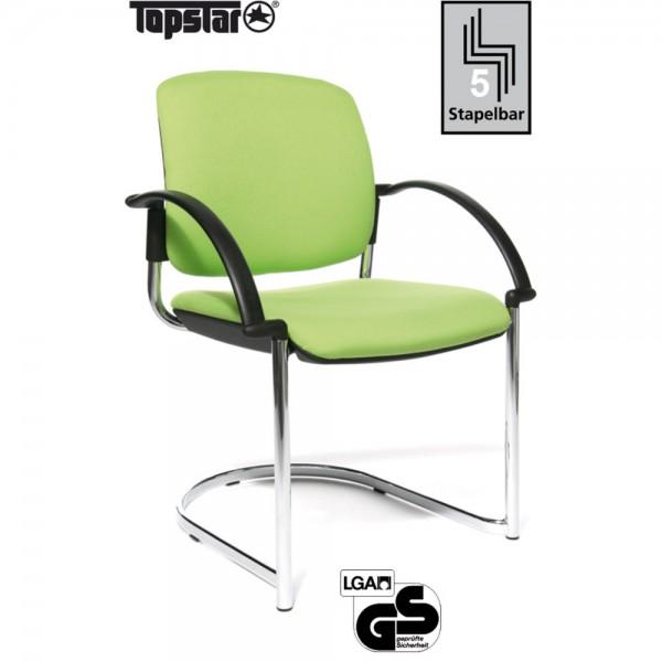 Besucherstuhl Open Chair 40 Visitor, Gepolstert, hellgrün