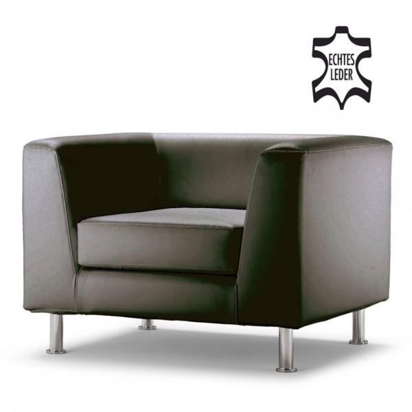 Loungegarnitur Wait 1-Sitzer schwarz 92x78x66cm