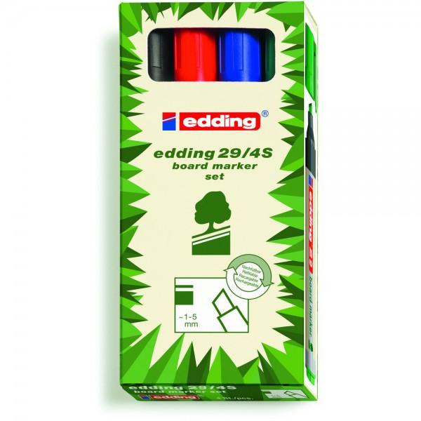 Boardmarker EcoLine 29 4er Set sortiert Keilspitze Umwelt