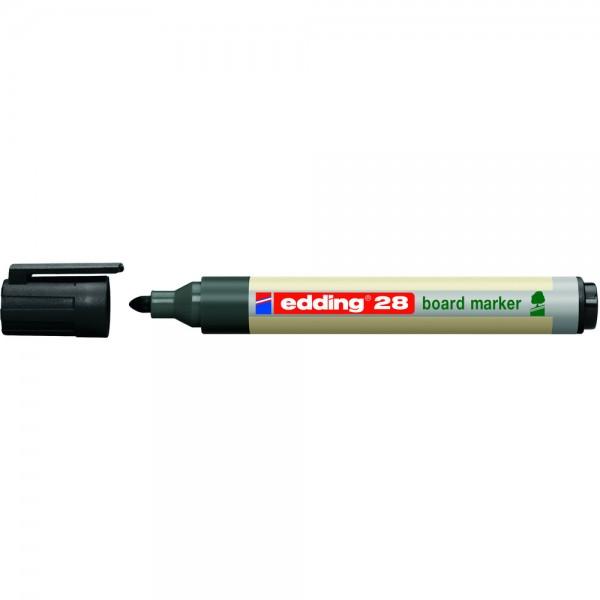Boardmarker EcoLine 28 schwarz Rundspitze Umwelt