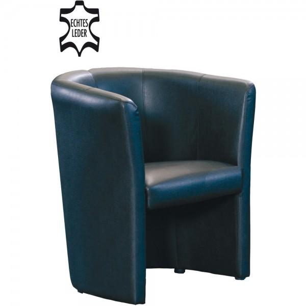 Sessel Club, 59x50,5x77cm, Leder, sw