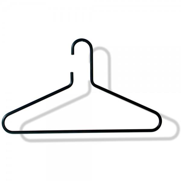Kleiderbügel, gebogen, Alu, n. drehb., sw