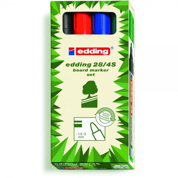 Boardmarker EcoLine 28 4er-Set sortiert Rundspitze Umwelt