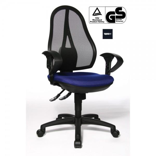 Bürostuhl Open point Synchro, höhenverst., sw, blau