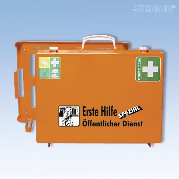 Erste-Hilfe-Koff.Öff. Dienst orange 40x30x15cm DIN13157