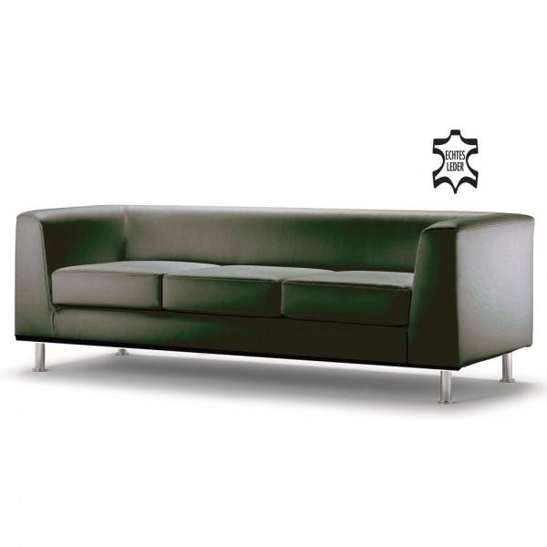 Loungegarnitur Wait 3-Sitzer schwarz 198x78x66cm