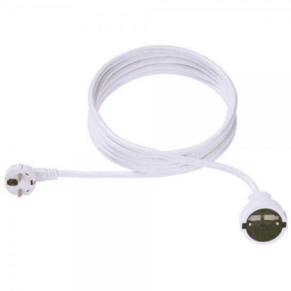 Verlängerungskabel 5m weiß 3-polig 250V/16A