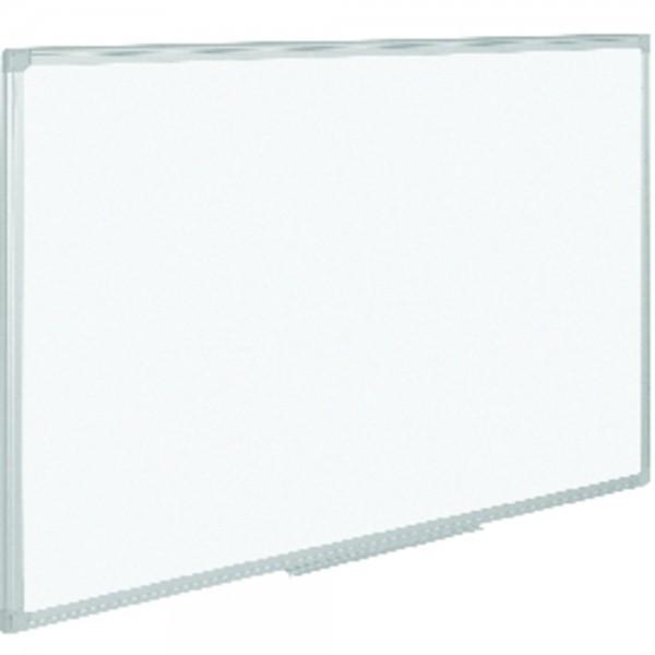 Schreibtafel, lackiert, magnetisch, 90 x 60 cm, silber - graue Ecken