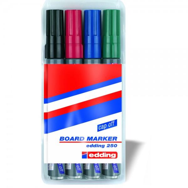 Boardmarker 250, Rundspitze, 1,5-3 mm, Schreibf.: 4er sortiert