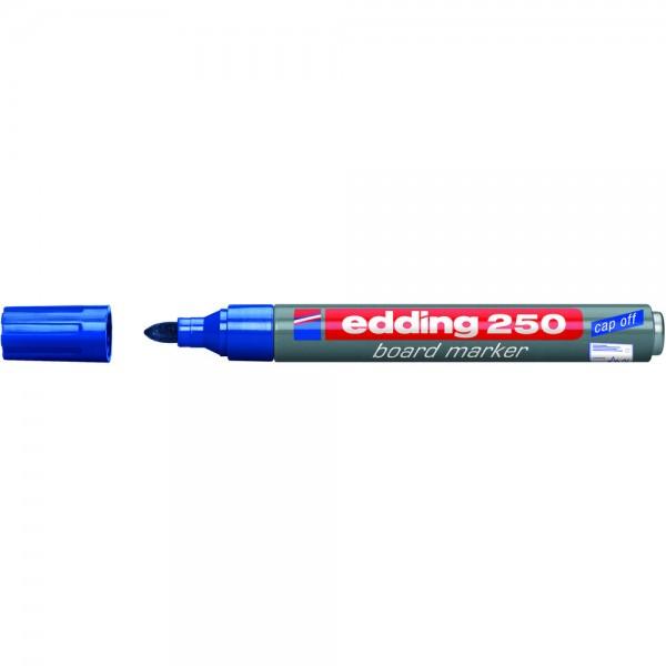 Boardmarker 250, nachfüllbar, Rundspitze, 1,5-3 mm, Schreibf.: blau