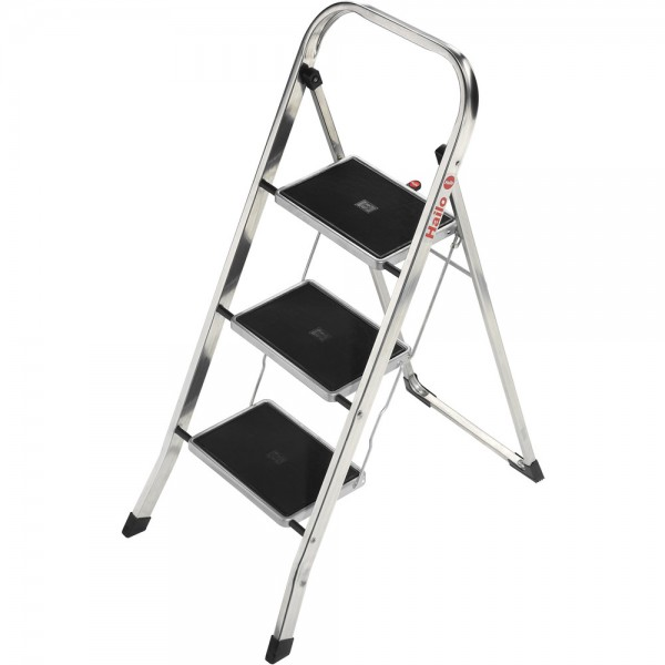 Klapptritt K30, Alu, 3 Stufen, Länge max.: 2,46m, Tragf.: 150kg, silb