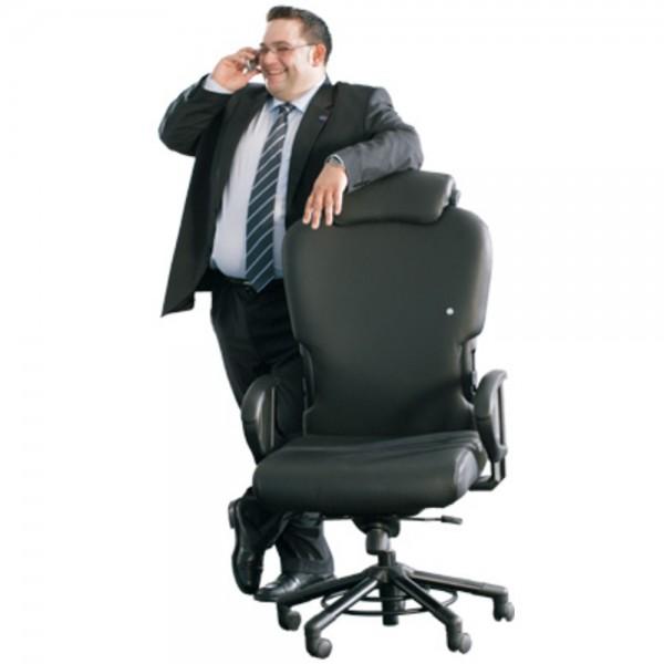 Bürostuhl XXXL, m.Nackenst., Stoff, Aquarius, sw