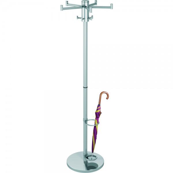 Standgarderobe Stilo silber 170x53cm