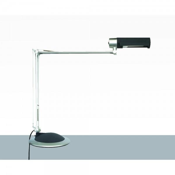 Tischleuchte, Office, mit Standfuß, Energiesparl., 20W, E27, silb