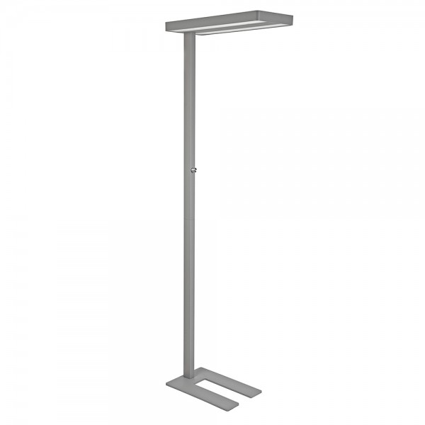 Standleuchte LED MAULjaval silber 80W dimmb. H:196cm