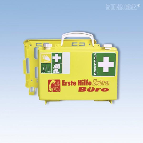 Erste-Hilfe-Koffer Extra Büro, ABS, gefüllt, Inhalt: DIN 13157, gelb