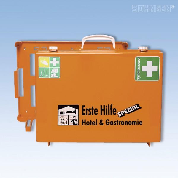 Erste-Hilfe-Koff.Hotel+Gastro orange 40x30x15cm DIN13157