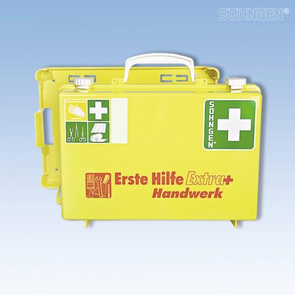 Erste Hilfe-Koffer Extra+Handw gelb 31x21x13cm 2,90kg