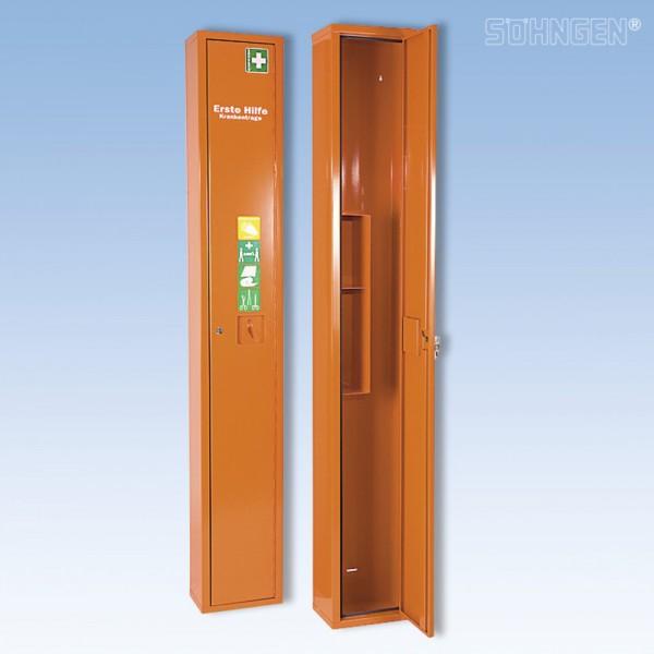 Erste-Hilfe-Schrank SAFE, abschließbar, leer, 30 x 20 x 200 cm, orange