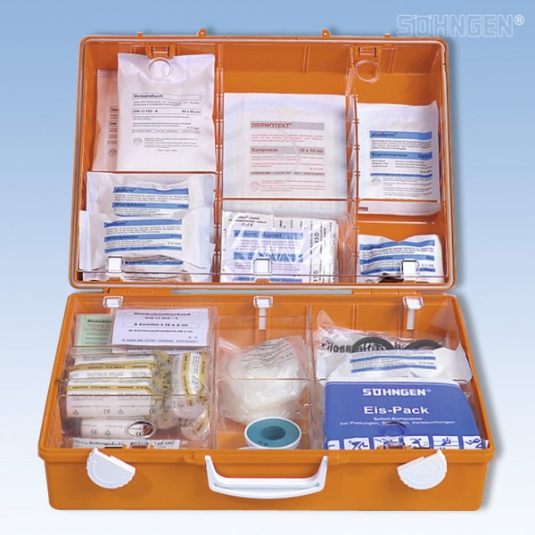 Erste-Hilfe-Koffer MT-CD Standard, gefüllt, Inhalt: DIN 13169